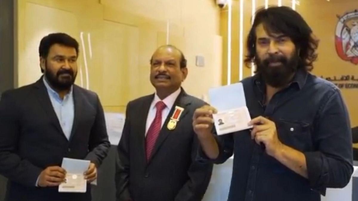 கோல்டன் விசா பெற்ற நடிகர்கள் மோகன்லால் மற்றும் மம்மூட்டி