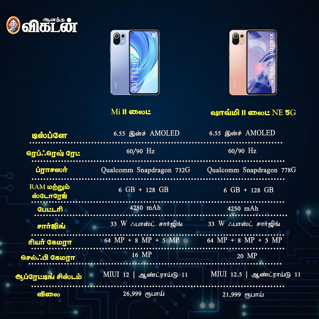 Mi 11 lite vs Xiaomi 11 lite NE 5G