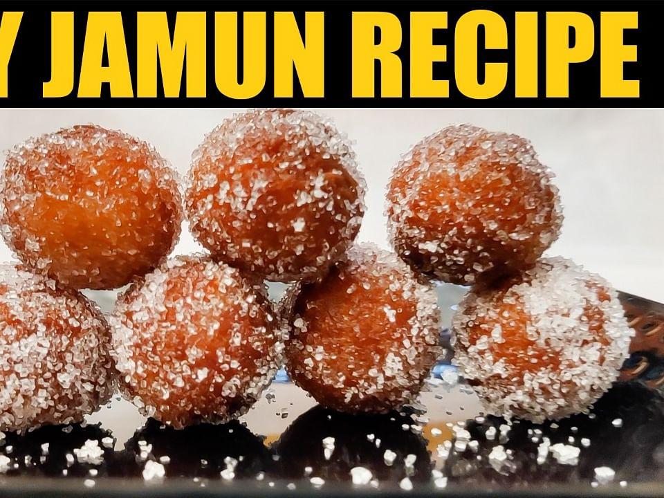 Dry Jamun Recipe in Tamil | ஜாமுன் செய்வது எப்படி? Sweet | Aval Vikatan