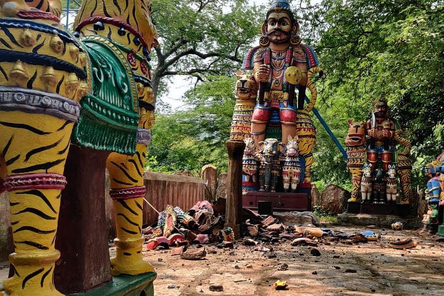 `தனி நபரால் செய்திருக்க முடியாது' - சாமி சிலை உடைப்பு விவகாரத்தில் கொதிக்கும் பாஜக!