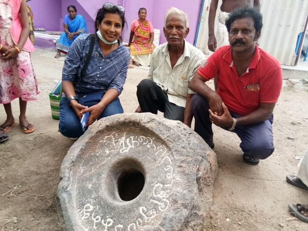 1,200 ஆண்டுகள் பழைமையான கல் செக்கு மற்றும் பிற்காலத்திய கல்வெட்டுகள் கண்டெடுப்பு... சிறப்பு என்ன?