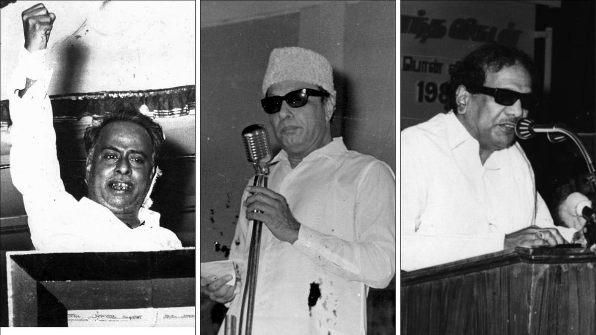 அண்ணா - எம்.ஜி.ஆர் - கருணாநிதி