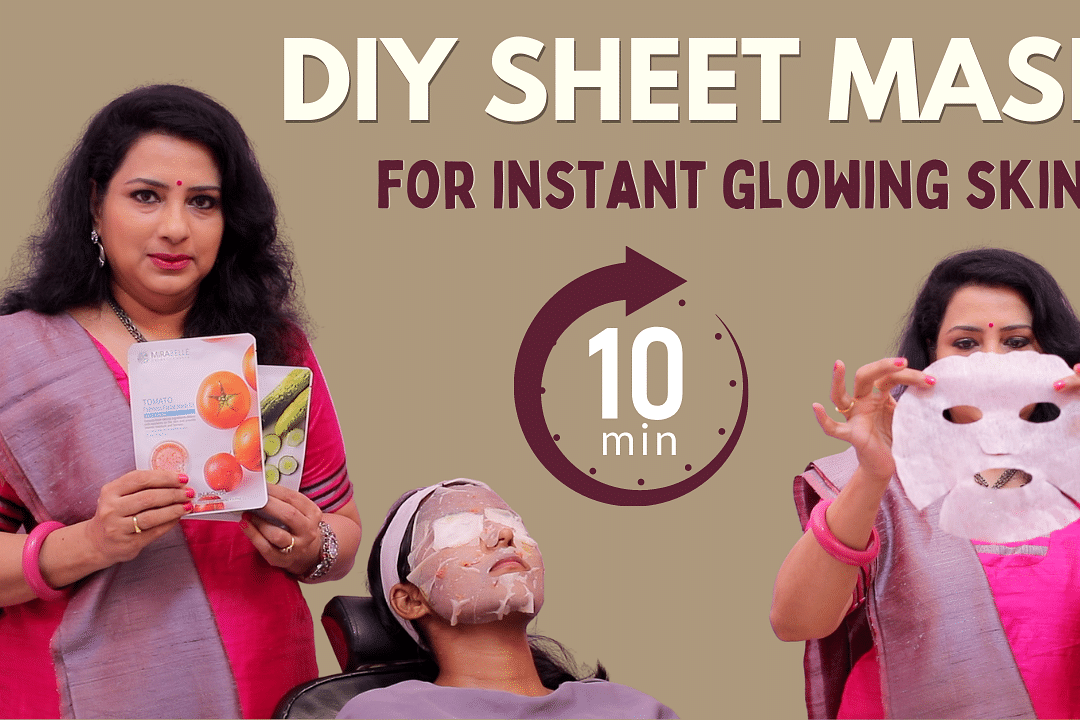 DIY Sheet Mask for Tan Removal