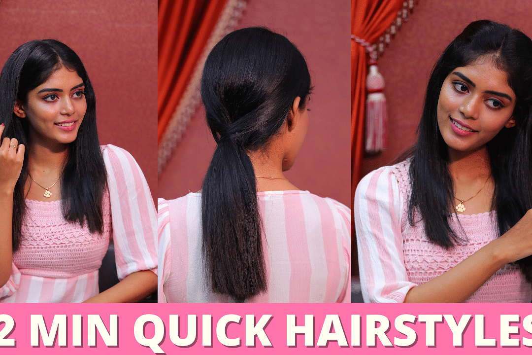 Easy Hairstyles For College & Office Going Girls