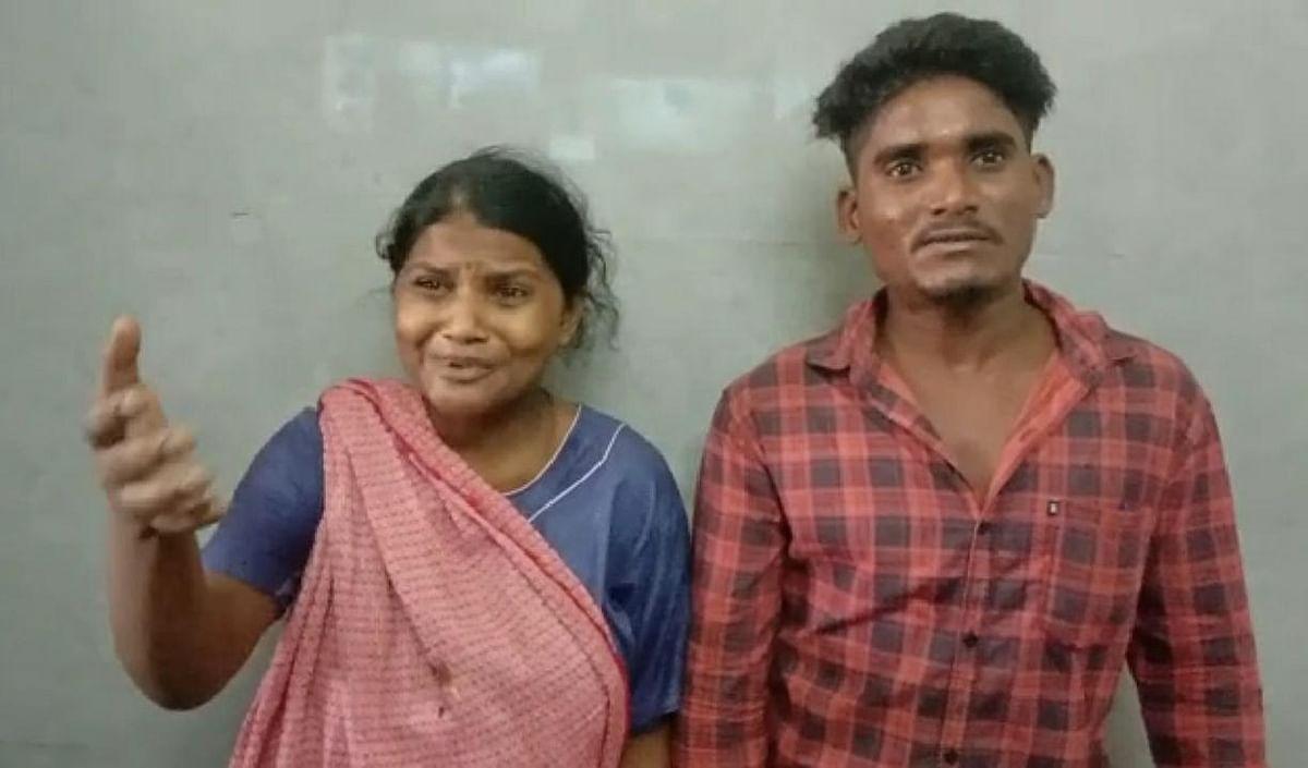 கடத்தப்பட்ட குழந்தையின் பெற்றோர் ராஜலெட்சுமி-குணசேகரன்