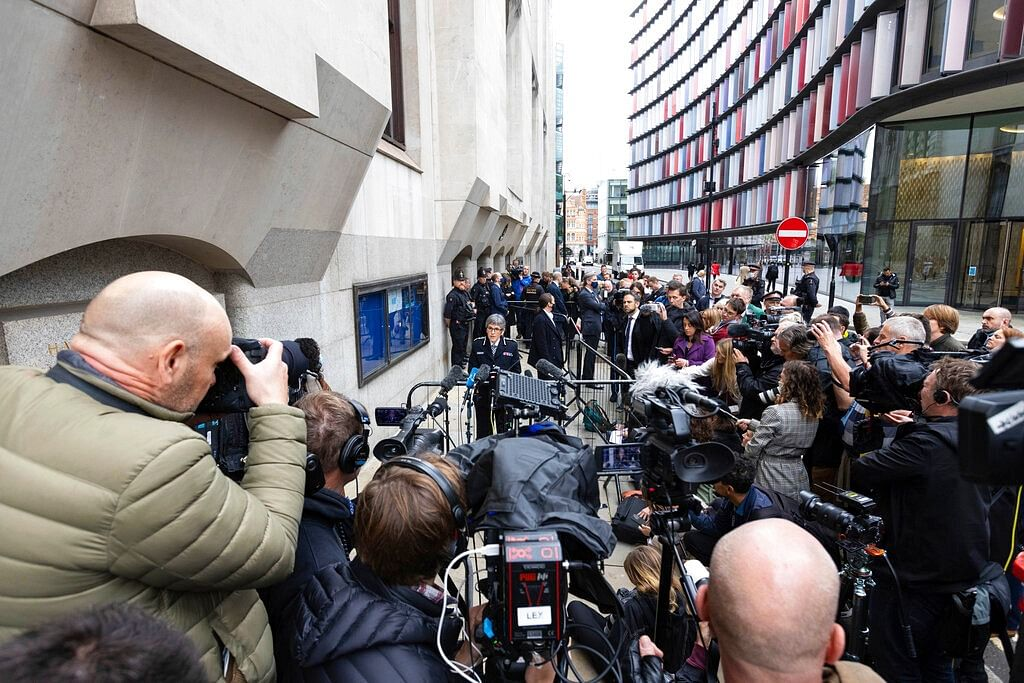 Metropolitan Police Commissioner Dame Cressida Dick makes a statement to the media