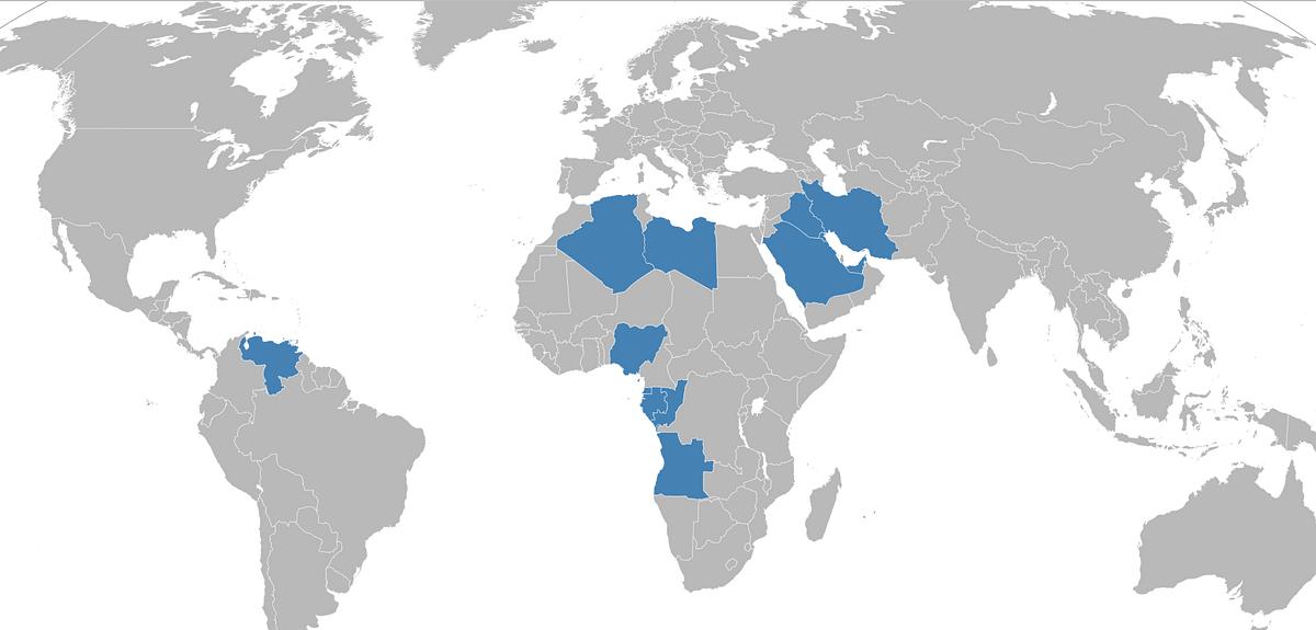 'ஒபெக்' கூட்டமைப்பின் நாடுகள்