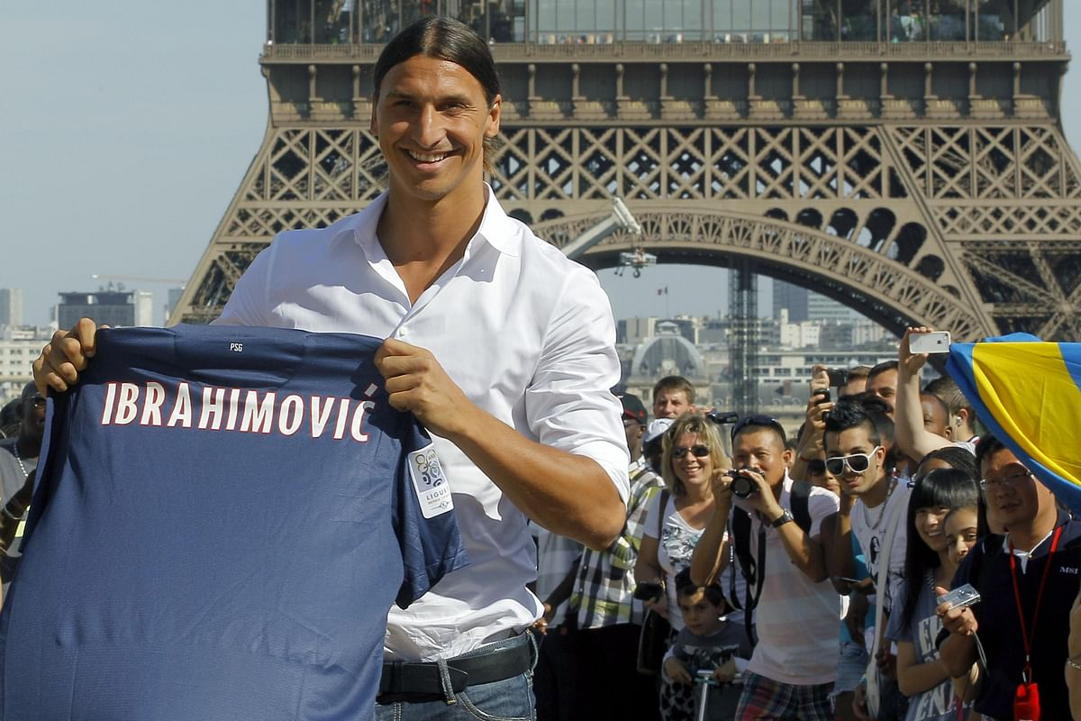 Zlatan's arrival in Paris