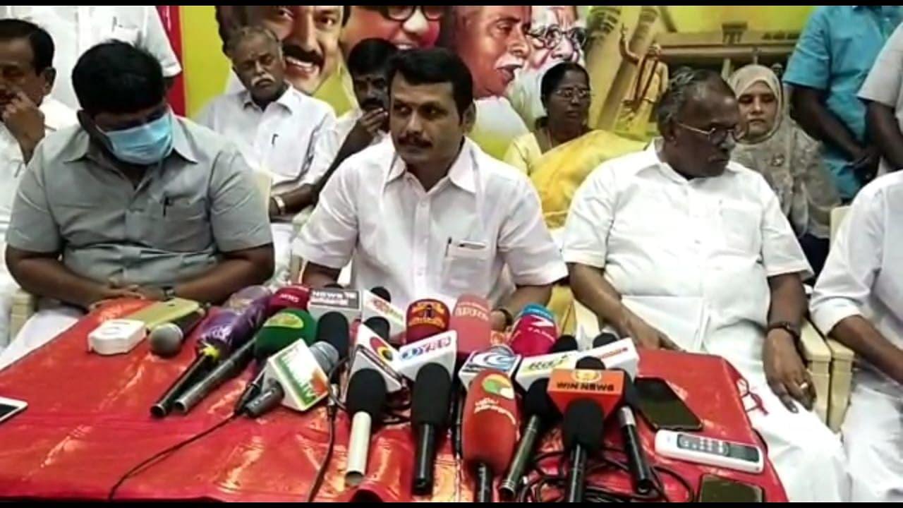 கரூர்: `அ.தி.மு.க உறுப்பினர்போல ஆட்சியர் செயல்படுகிறார்!' - செந்தில் பாலாஜி குற்றச்சாட்டு