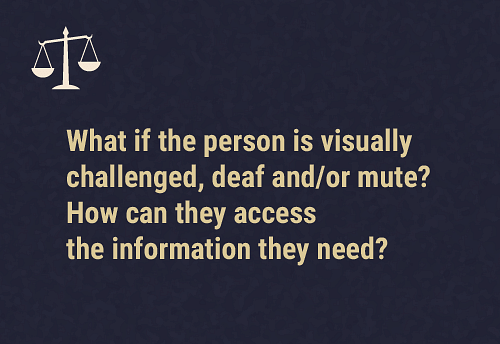 Inclusive access to information and choice to communicate  The information must be given to the person using simple language, which they understand. Or, it must be given using sign language, visual aids or any other means that will enable them to understand it.