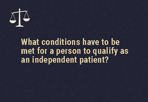 There are two conditions that must be met  The person must be 18 years of age or aboveThey must want to be admitted to a psychiatric hospital for the purpose of treatment