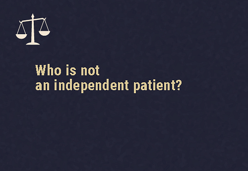 A person who does not meet these three conditions doesn't qualify as one  When the medical officer/mental health professional assesses that the person is unable to Understand the purpose and nature of  treatment Understand the likely effects of the treatment, orUnderstand the likely result of not accepting treatment Or, if the person requires a very high level of support in making decisions about their mental healthcare and treatment