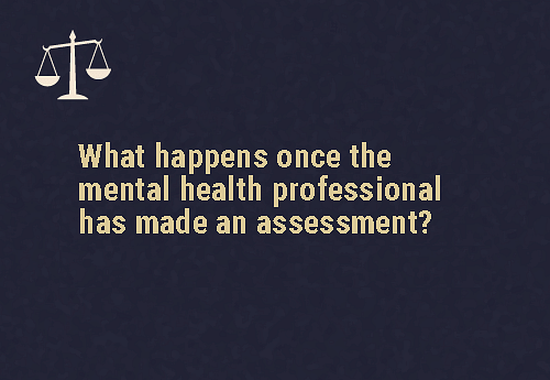 This will lead to one out of two possible outcomes  Depending on the  finding, either  The independent patient will be admitted as a supported patient, orThey will be  discharged after a maximum period of 24 hours  Reference:Mental healthcare act, 2017, https://www.prsindia.org/uploads/media/Mental%20Health/Mental%20Healthcare%20Act,%202017.pdf.