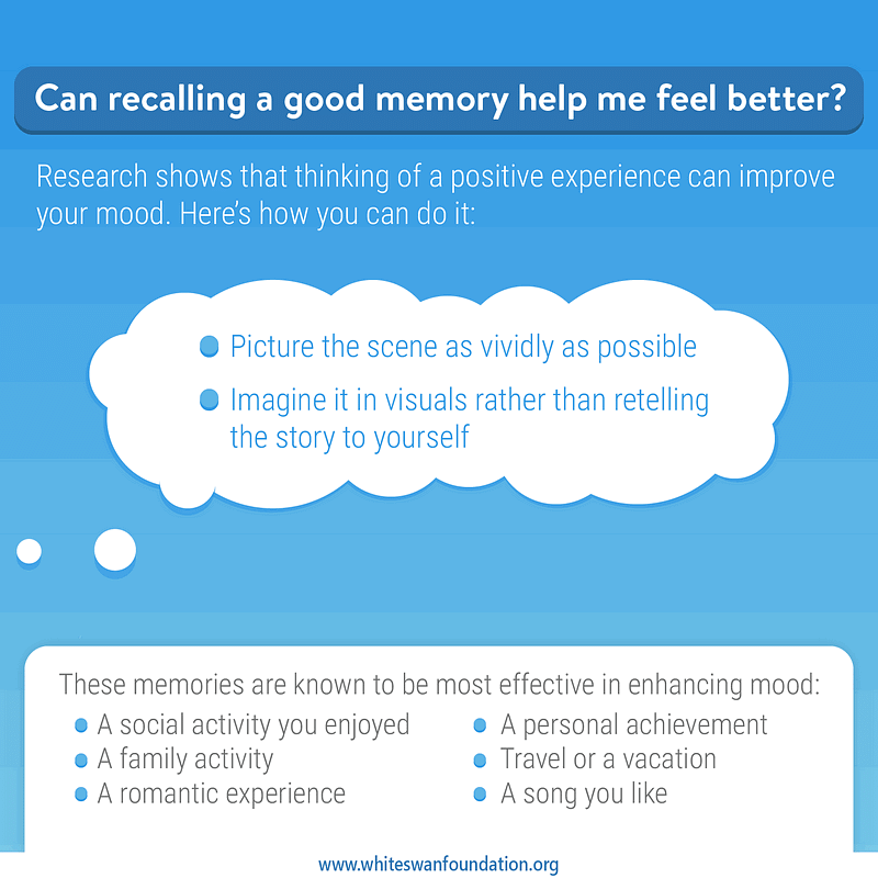 Can recalling a good memory help me feel better?