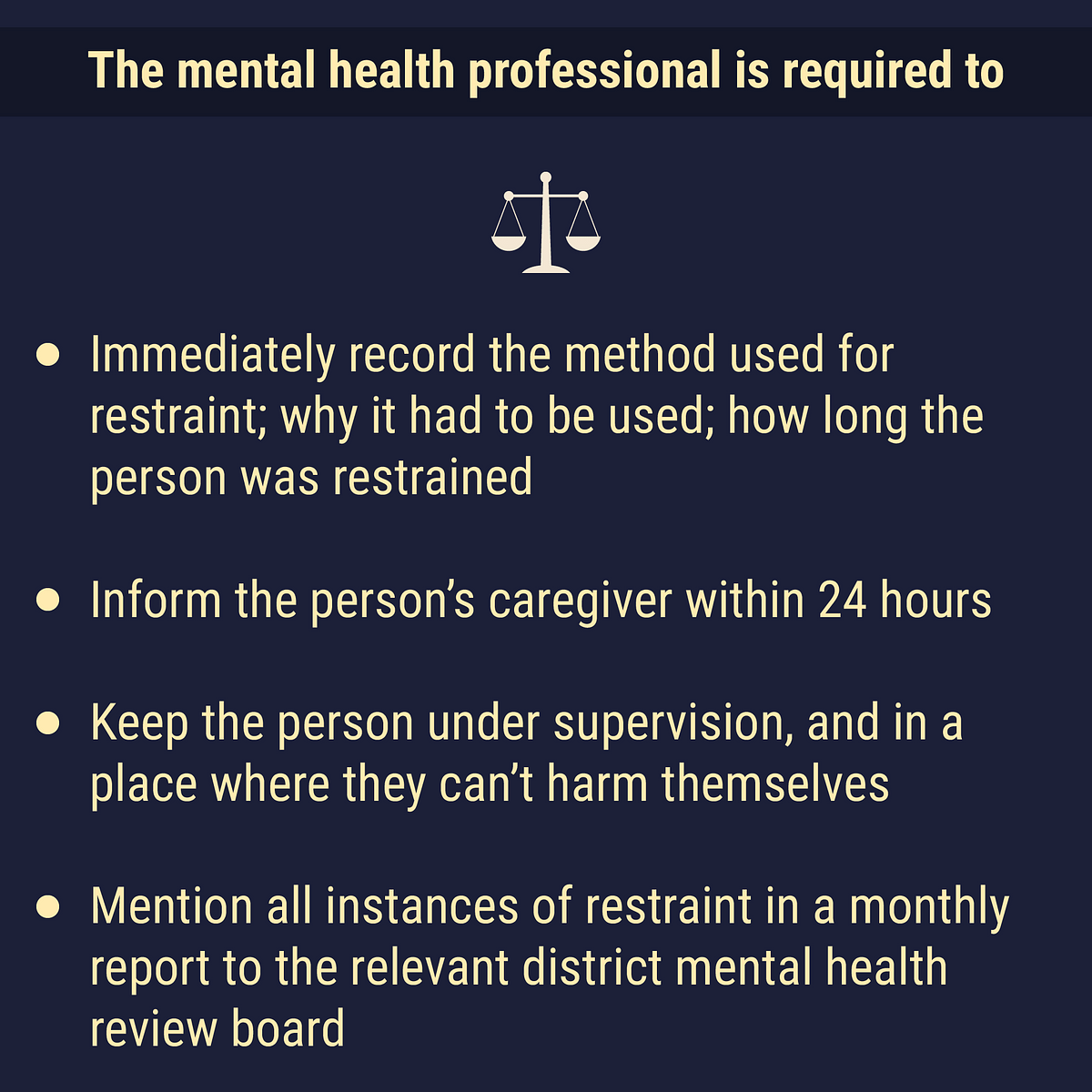 What is a mental health professional required to do?