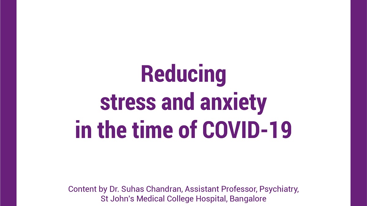 Reducing stress during COVID-19