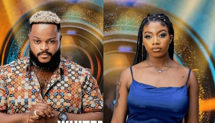 BBNaija: Four days after eviction, Whitemoney pleads with Angel to forgive Boma