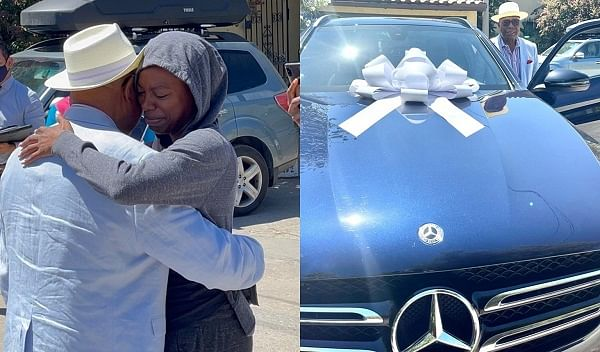 Actress Yvonne Orji gifts dad Mercedes Benz few months to 80th birthday