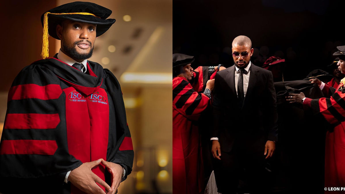 PHOTO: Actor Alex Ekubo bags Doctorate Degree in Arts and Culture