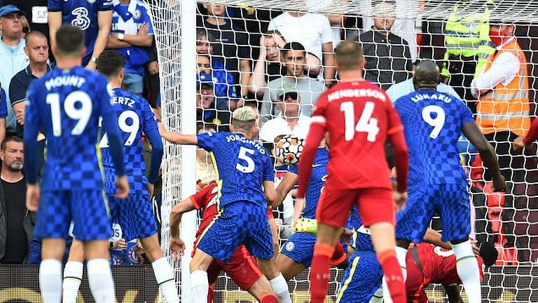 Drama at Anfield as 10-man Chelsea hold Liverpool