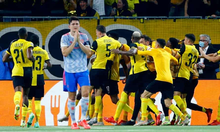 UCL: Young Boys beat 10-man Man United 2-1