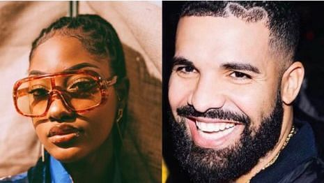 VIDEO: Tems, Drake have private discussion as they dine together