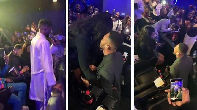VIDEO: Man proposes to girlfriend at Johnny Drille's album listening event