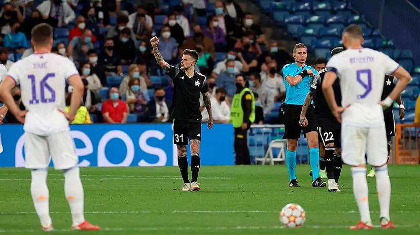 Real Madrid slump to 2-1 defeat against Sheriff at Bernabeau