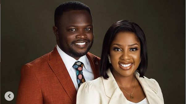'The Johnsons' star, Seun Osigbesan, shares photos with husband, urges women to be submissive