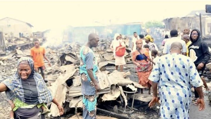 PHOTOS: Several families rendered homeless as fire guts 50 buildings, shops in Makoko