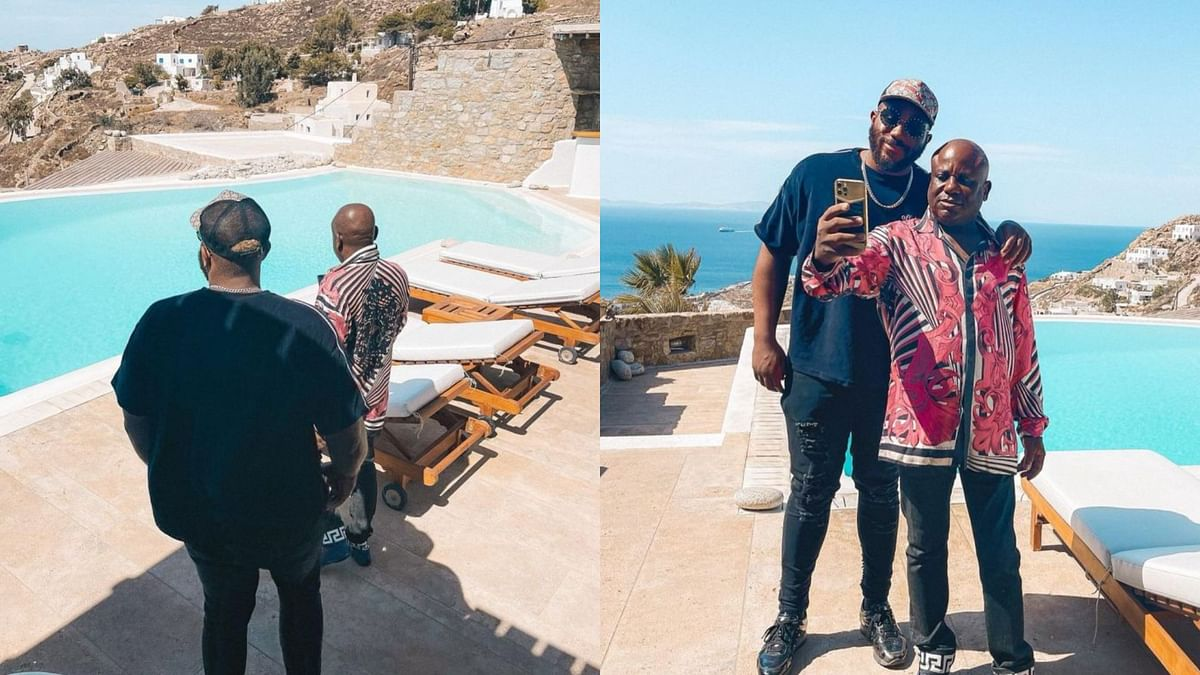 PHOTOS: Kiddwaya applauds dad as they holiday in Greece