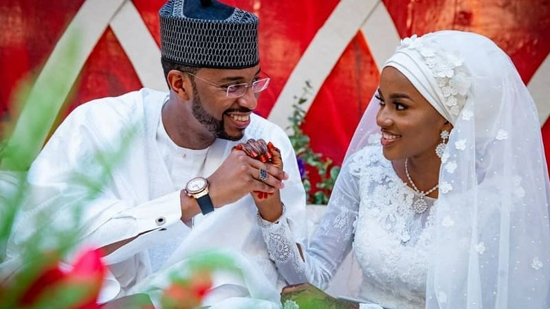 Buhari's youngest daughter Hanan shares loved-up photo with husband on first wedding anniversary