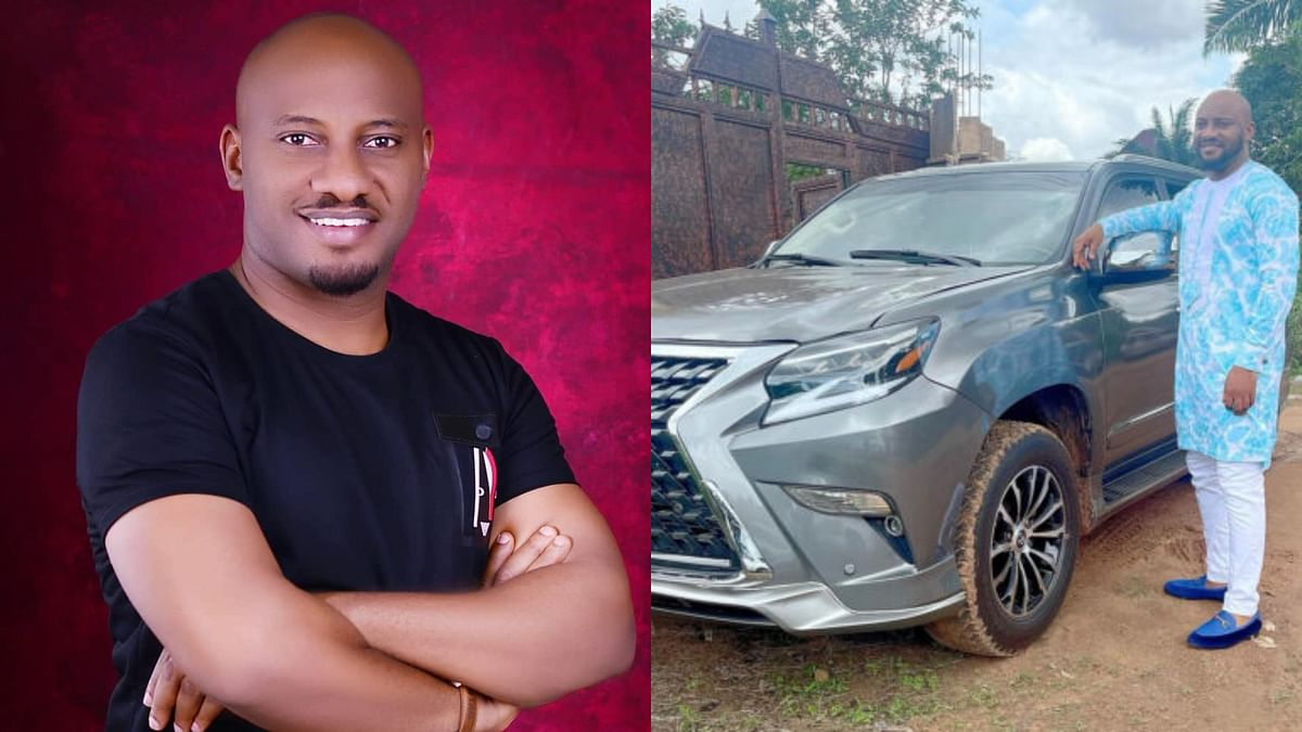 PHOTO: After 16 years of hustle, actor Yul Edochie buys Lexus SUV