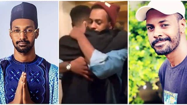 VIDEO: Moment ex-BBNaija housemate, Yousef, reunited with his brother