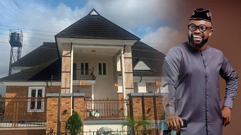 Popular actor Okon Lagos flaunts new house, advises fans