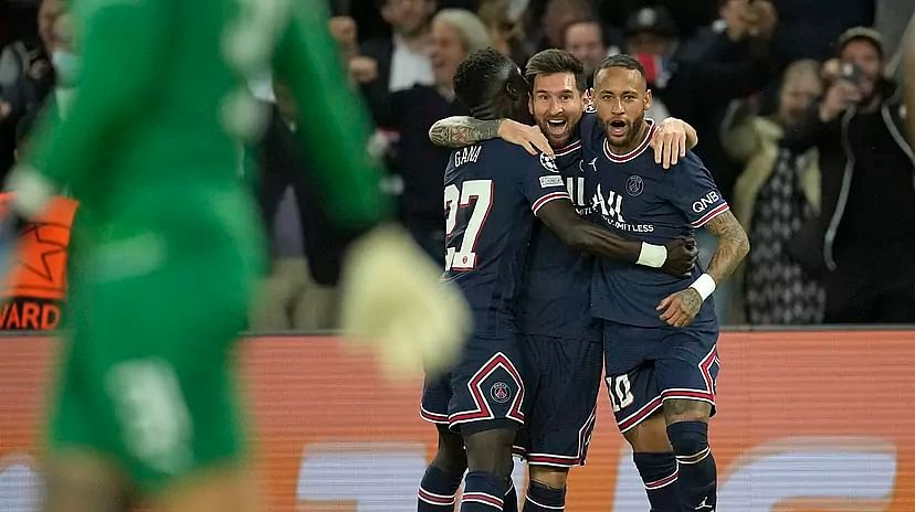 UCL: Lionel Messi scores first goal as PSG beat Man City 2-0