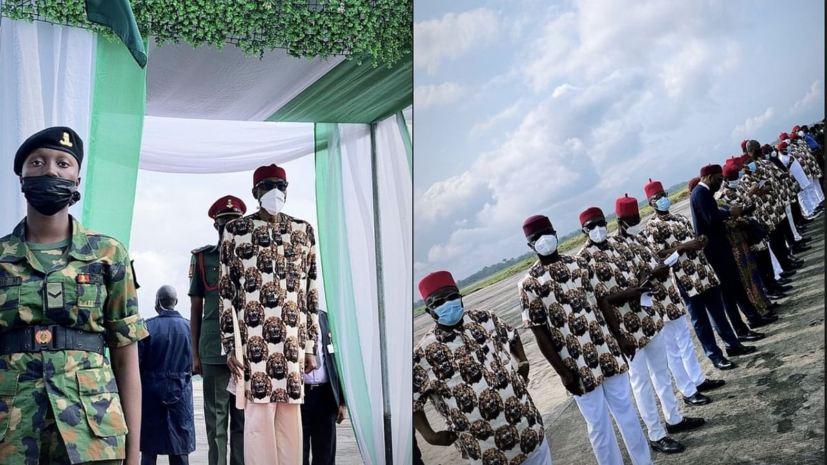 ICYMI: Whoever sewed your trouser is part of Nigeria's problem, Hilarious reactions trail Buhari's outfit in Imo