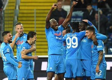 Osimhen scores as Napoli beat Udinese to top Serie A
