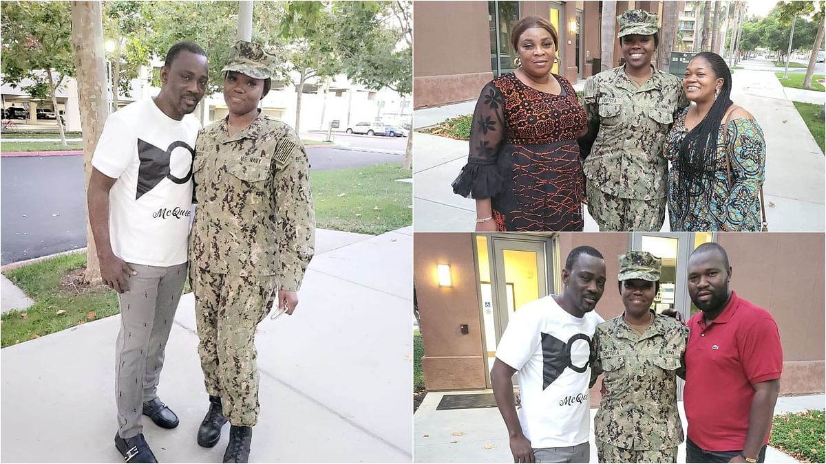 VIDEO: Pasuma, wife pay daughter 'surprise' visit in US naval base