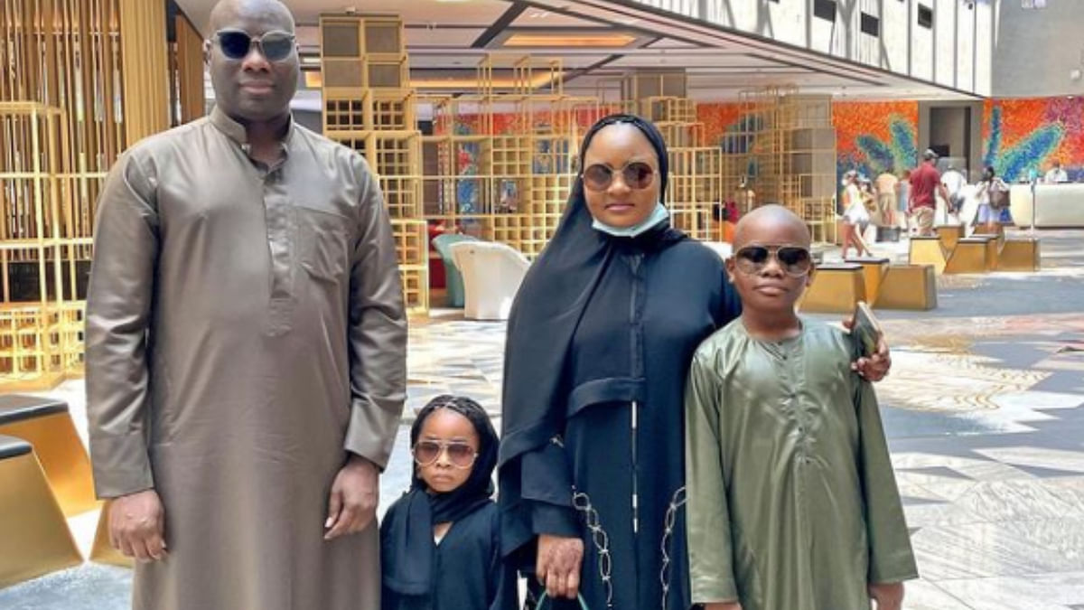 VIDEO: Mompha gifts wife, children iPhone 13 worth N1m each