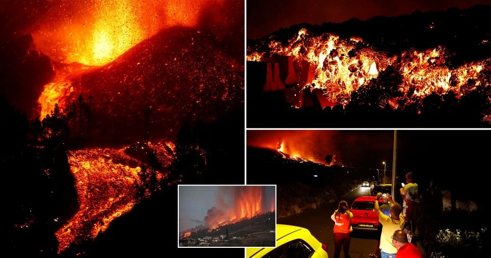 Thousands flee, houses 'destroyed' as volcano erupts in Spain