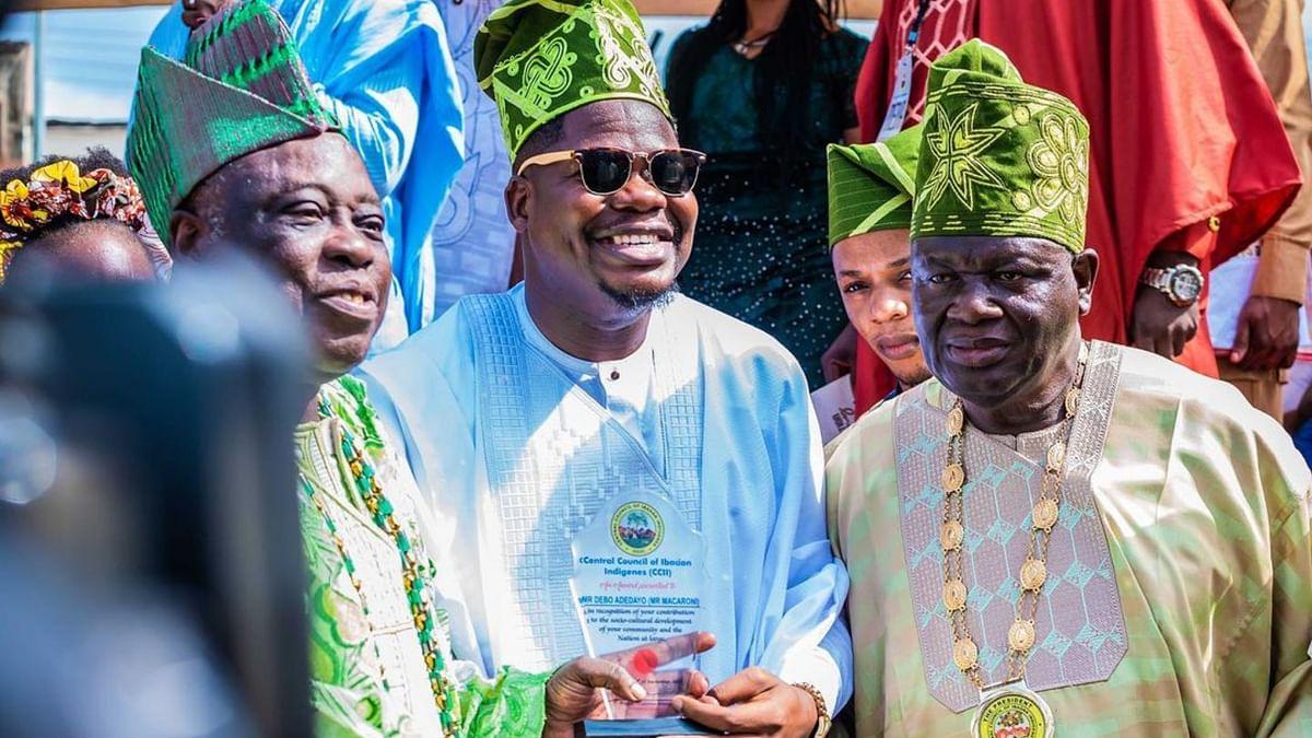 PHOTOS: Mr Macaroni bags outstanding Ibadan youth award