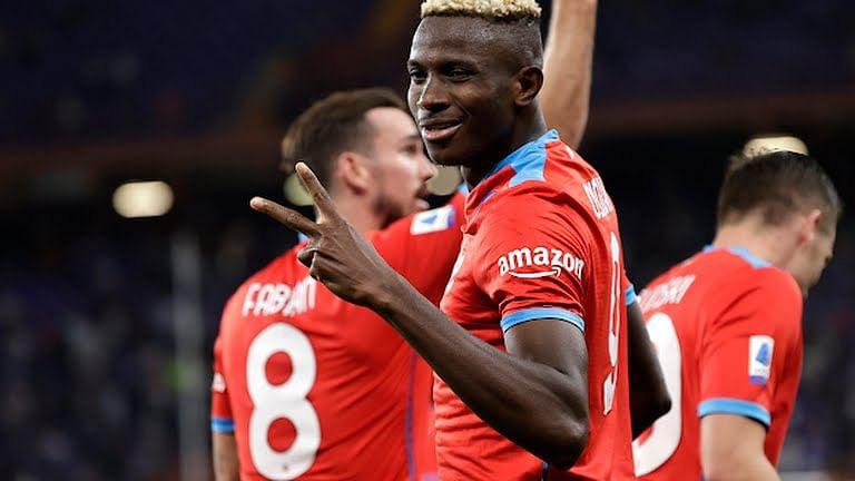 Osimhen fires Napoli top of Serie A with brace against Sampdoria