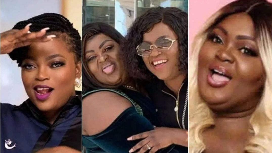 Funke Akindele consoles Eniola Badmus, says 'I'm your mum now'