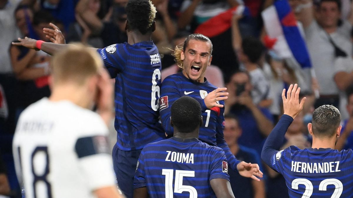 Griezmann double puts France back on winning track