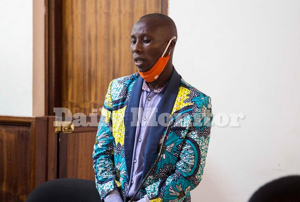Mr Didas Mpagi alias Bakulu, a pastor who was convicted of sodomising at least 13 pupils pictured in court as he waited to be sentenced on October 8, 2021.