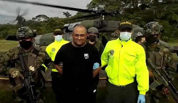 Colombia's most-wanted drug lord 'Otoniel' captured near Panama border