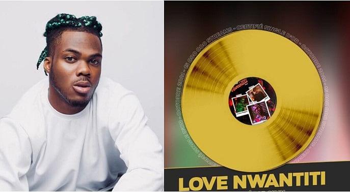 PHOTO: Singer CKay's 'Love Nwantiti' hits Gold in France