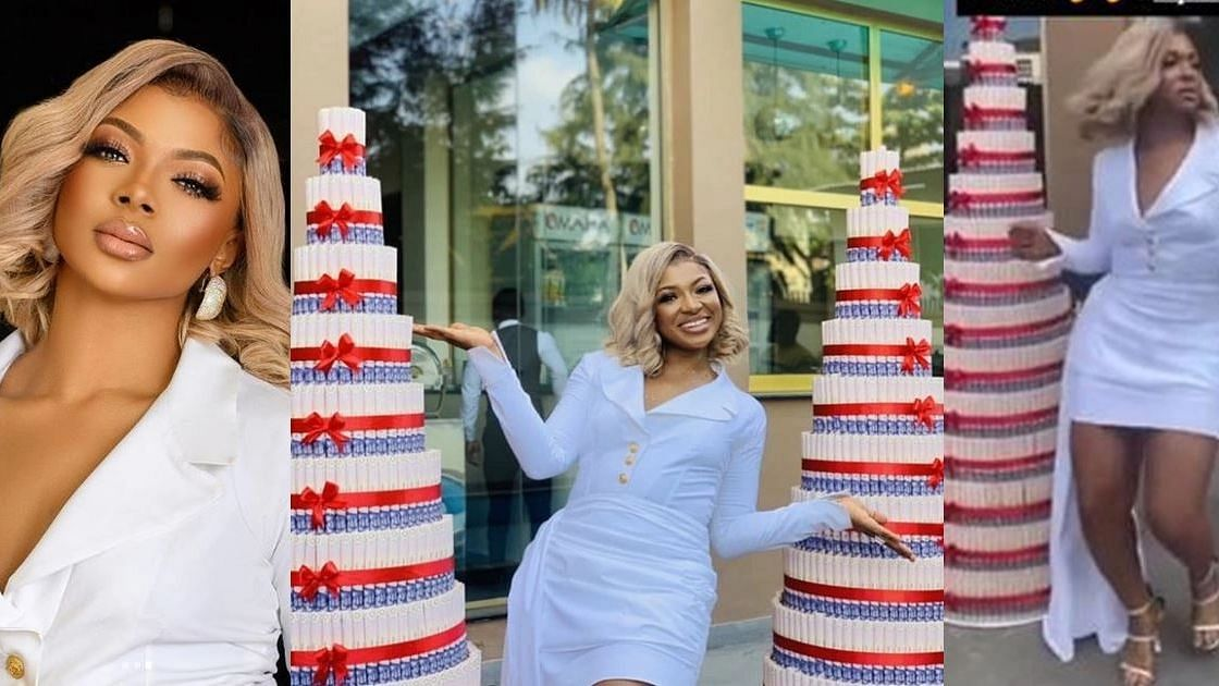 VIDEO: Liquorose receives two huge money cakes from fans