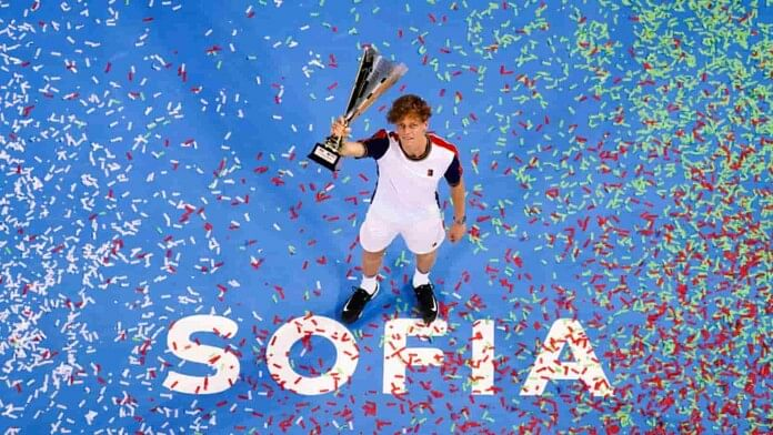 Sinner sinks Monfils to win second successive Sofia title